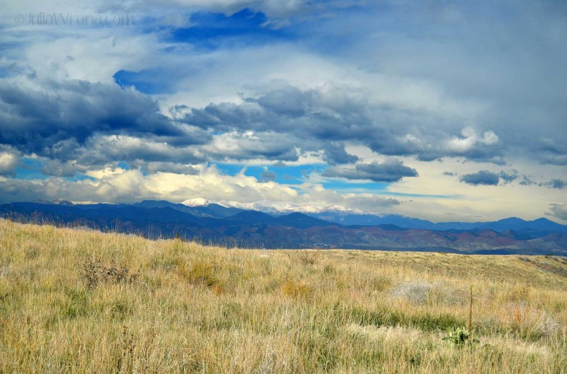 Rocky Mountains from Lone Tree, Colorado