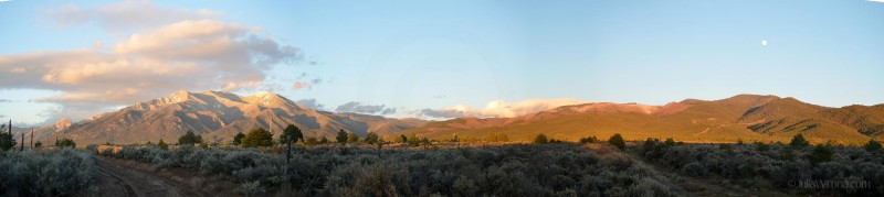 Sunset over the Sangre de Cristo Mountains in Taos