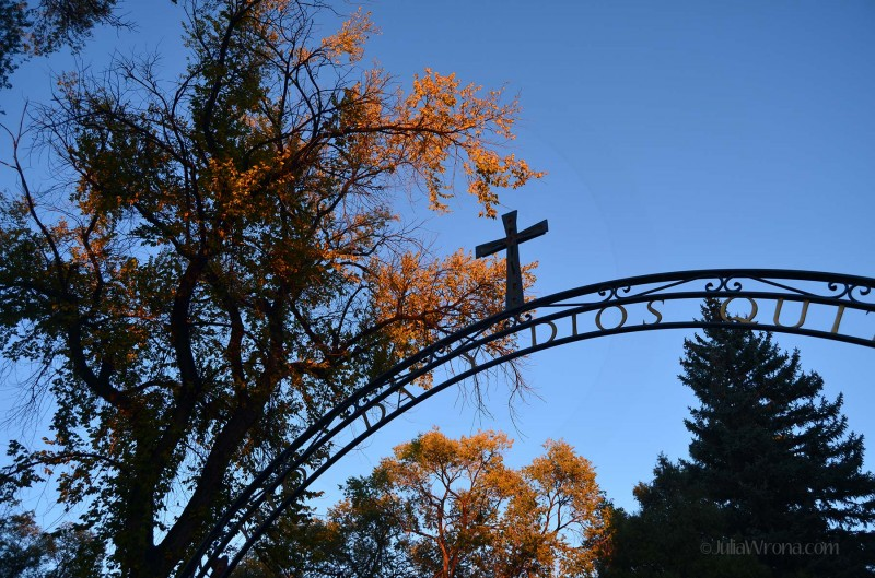 Cemetery Gate at The Cathedral Basilica of St. Francis of Assisi