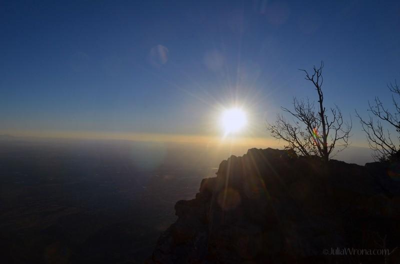 Sunset over Albuquerque from the top of Sandia Peak