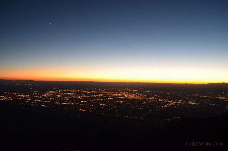 Albuquerque from the top of Sandia Peak