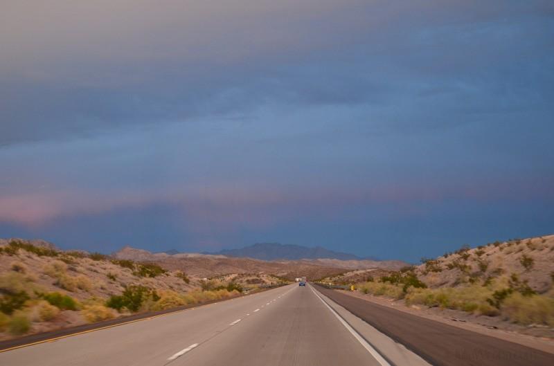 California sky as we head towards Arizona