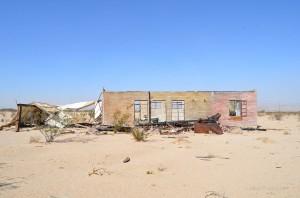 Crumbling home in Wonder Valley