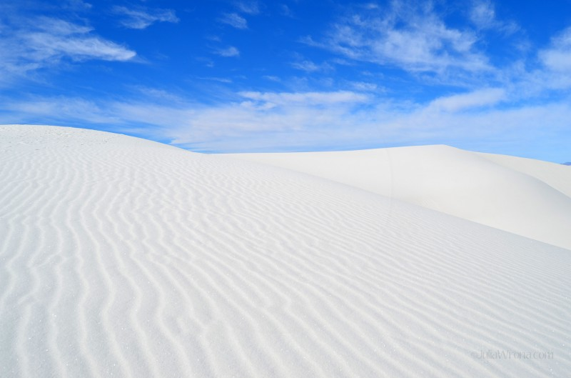 Textured dunes at White Sands National Park