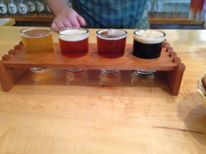 Beer sample tray from Argyle Brewing Company