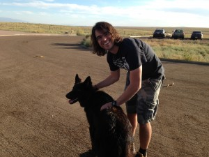 Me and a DEA dog in the ABQ