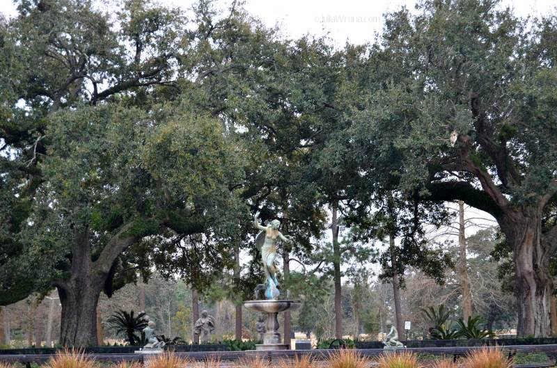 Fountain in Audubon Park in New Orleans