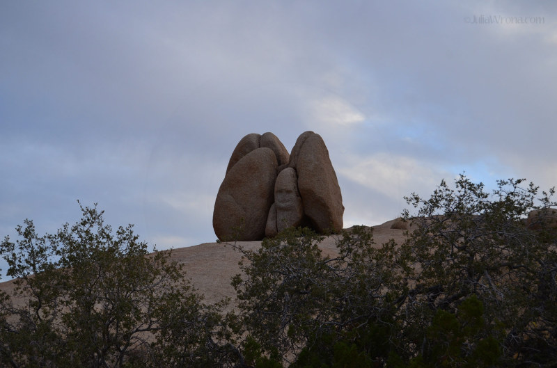smiling face rock in Joshua Tree National Park