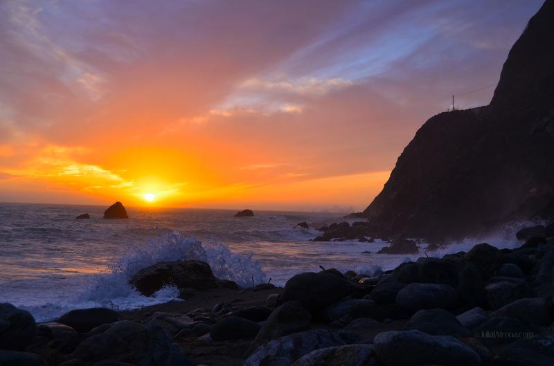 Sunset over Pacific Big Sur, California