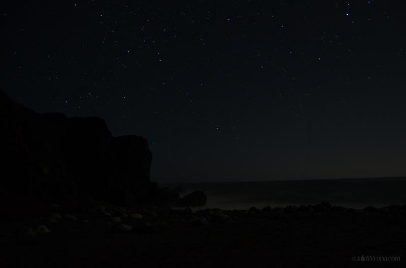 Stars over the pacific in Big Sur, California
