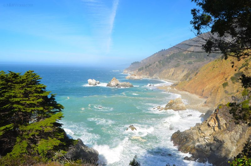 Big Sur view of the Pacific from Route 1 California