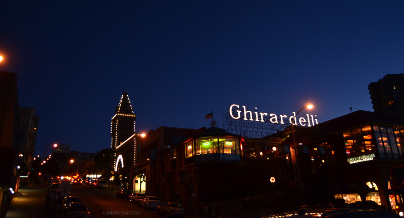 Ghirardelli factory at Fisherman's Wharf in San Francisco