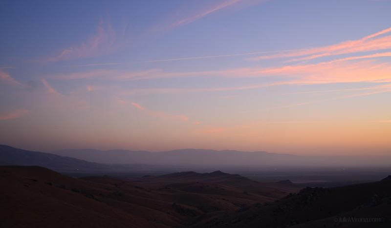 Sunset near Mojave, California