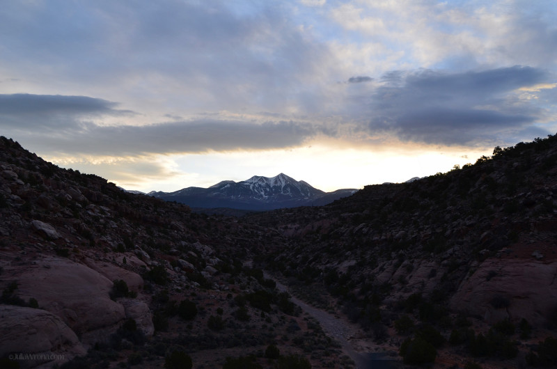 La Sal Mountains at sunrise