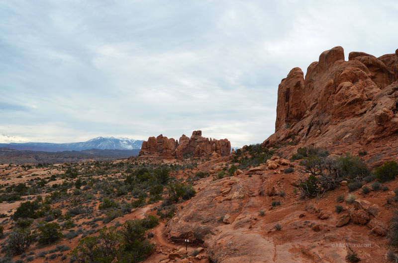 Arches National Park, Utah and La Sal Mountains