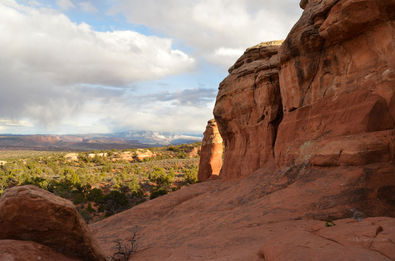 Far side of Broken Arch in Arches National Park, Utah