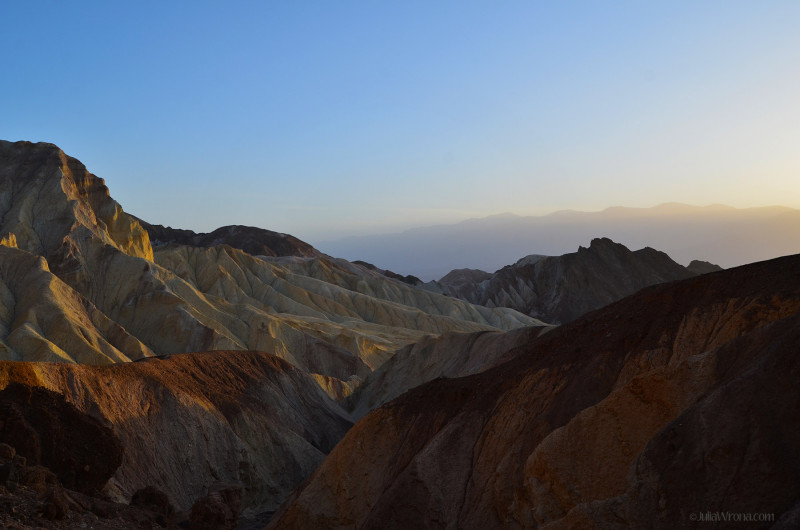 Sunset in Golden Canyon in Death Valley