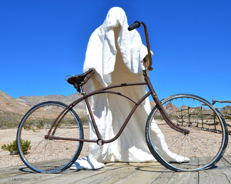 Ghost Ride Sculpture, bicycle