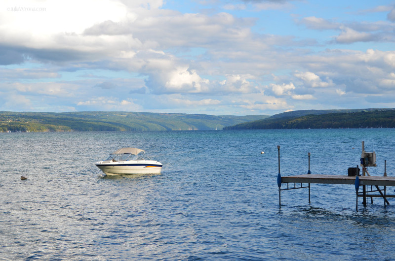 Boat on Skaneateles Lake