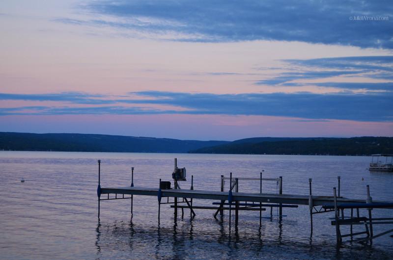 On Skaneateles Lake at Sunset