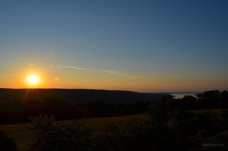 Above Skaneateles Lake at Sunset