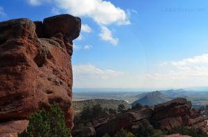 Looking out from Red Rocks