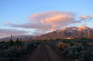 Sangre de Cristos at Sunset