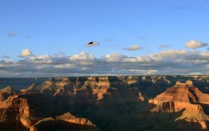 In Flight Over Grand Canyon