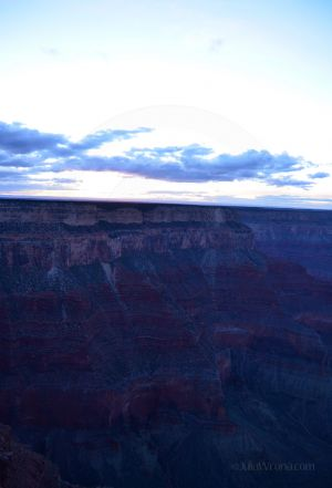 Dusk in Grand Canyon