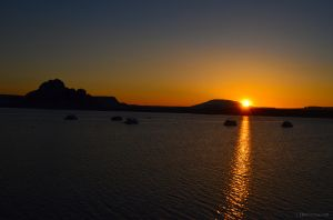 Sunrise on Lake Powell