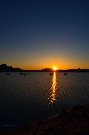 Sunrise Breaking over Lake Powell
