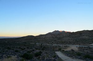 Mojave Preserve at Sunset