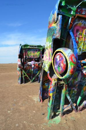 Colorful Cars at Cadillac Ranch
