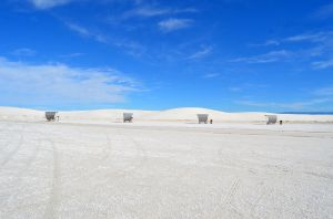 Shelters in White Sands