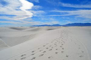 Hiking in White Sands