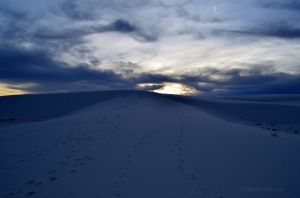 Hiking at Sunset in White Sand