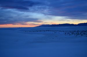Sunset in White Sands
