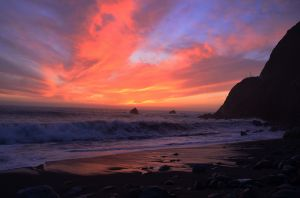 Big Sur Fiery Sunset