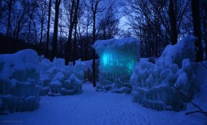 The Ice Castle at Dusk