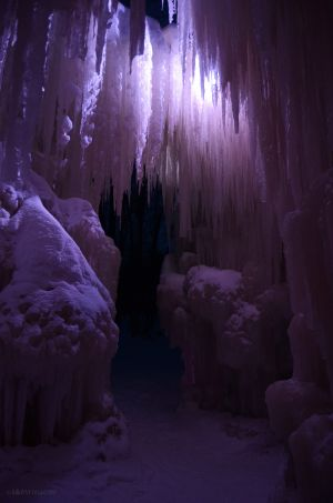 Looking out of the Ice Castle