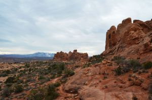Hiking in Arches
