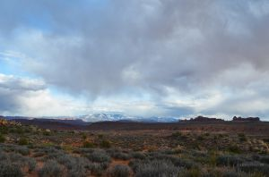Storm Over the La Sal Mountains