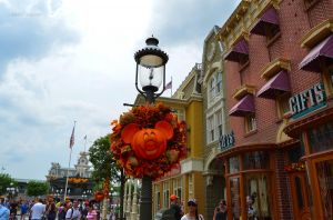 Mickey Pumpkin on Main Street