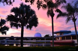 Sunset in Epcot