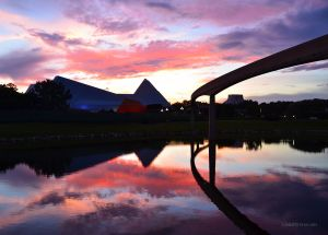Reflected Sunset in Epcot